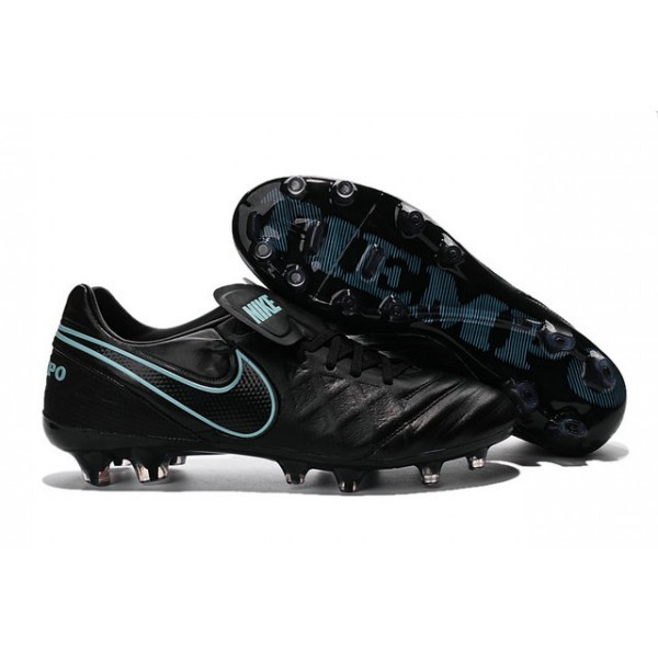 Men's Nike Tiempo Legend VI FG Soccer Cleats Black Blue