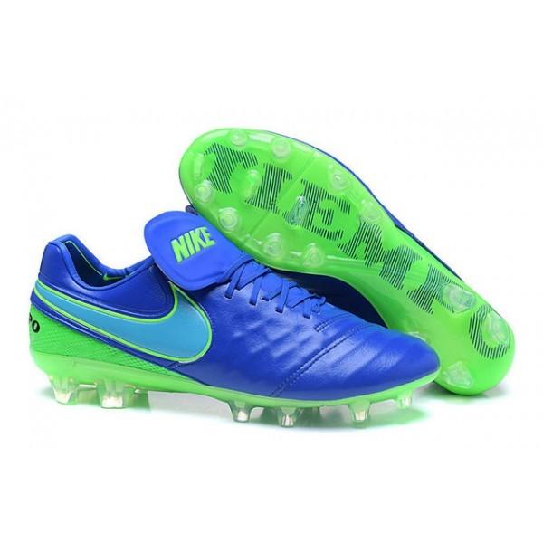 Men's Nike Tiempo Legend VI FG Soccer Cleats Blue Green