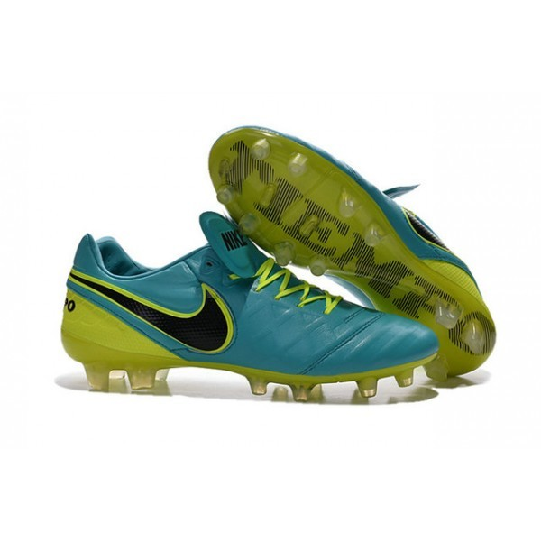 Men's Nike Tiempo Legend VI FG Soccer Cleats Blue Volt Black