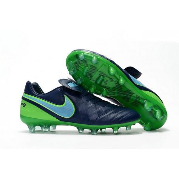 Men's Nike Tiempo Legend VI FG Soccer Cleats Coastal Blue Polarized Green