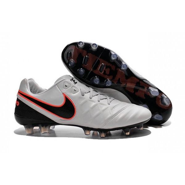 Men's Nike Tiempo Legend VI FG Soccer Cleats Pure Platinum Black Orange
