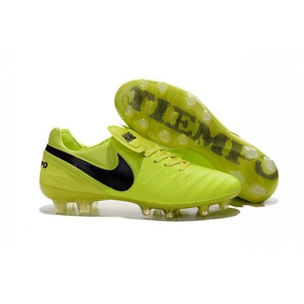 Men's Nike Tiempo Legend VI FG Soccer Cleats Volt Black