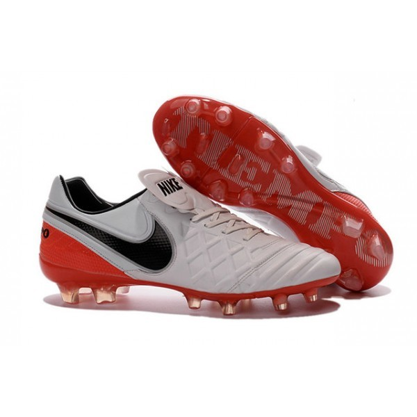 Men's Nike Tiempo Legend VI FG Soccer Cleats White Black Red