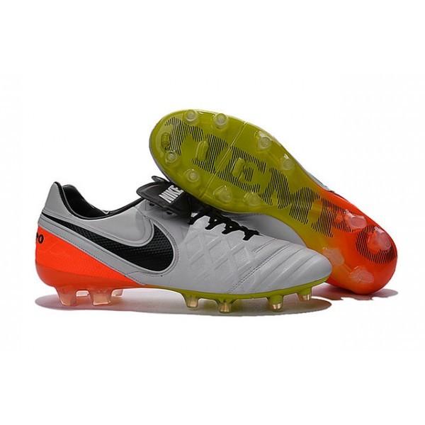 Men's Nike Tiempo Legend VI FG Soccer Cleats White Black Total Orange Volt
