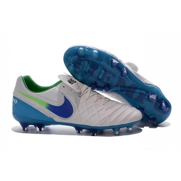 Men's Nike Tiempo Legend VI FG Soccer Cleats White Blue Green