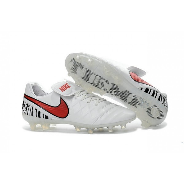 Men's Nike Tiempo Legend VI FG Soccer Cleats White Red