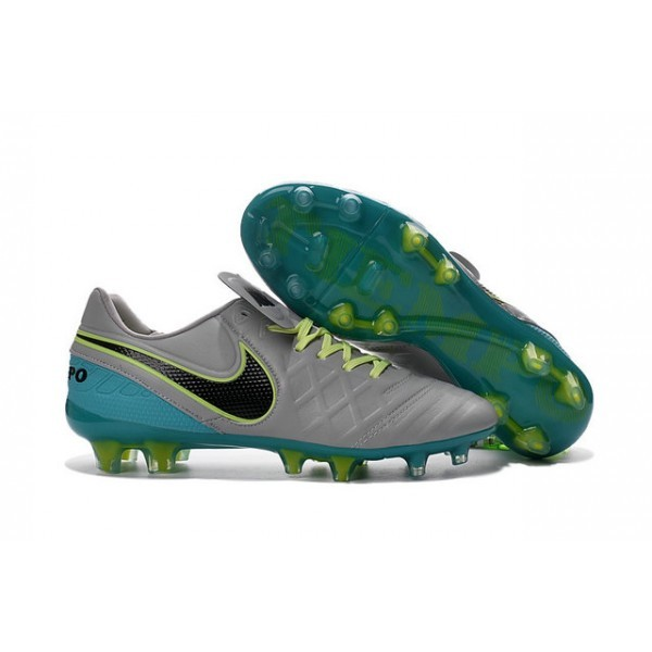 Men's Nike Tiempo Legend VI FG Soccer Cleats Wolf Grey Black Clear Jade