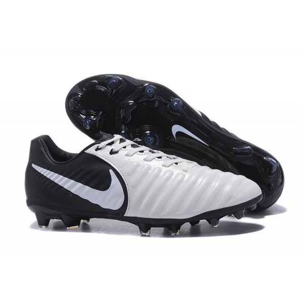 Men's Nike Tiempo Legend VII FG Black White Football Cleats Boots
