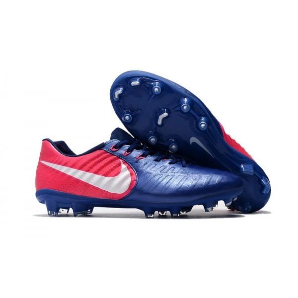 Men's Nike Football Cleats Tiempo Legend VII FG Blue Pink