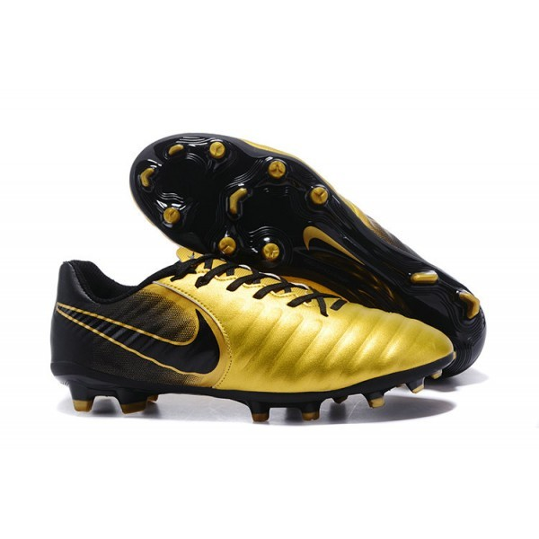 Men's Nike Football Cleats Tiempo Legend VII FG Gold Black