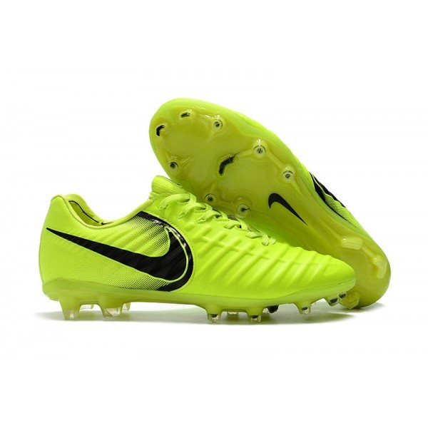 Men's Nike Football Cleats Tiempo Legend VII FG Volt Black
