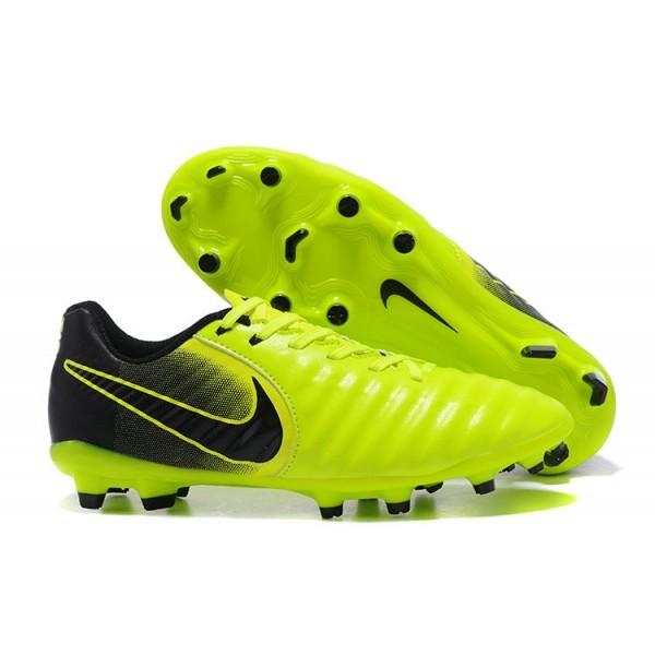 Men's Nike Tiempo Legend VII FG Volt Black Football Cleats Boots