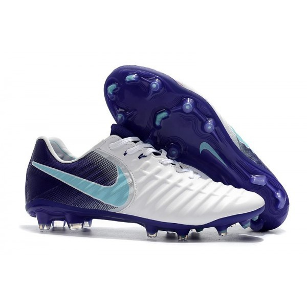 Men's Nike Football Cleats Tiempo Legend VII FG White Purple