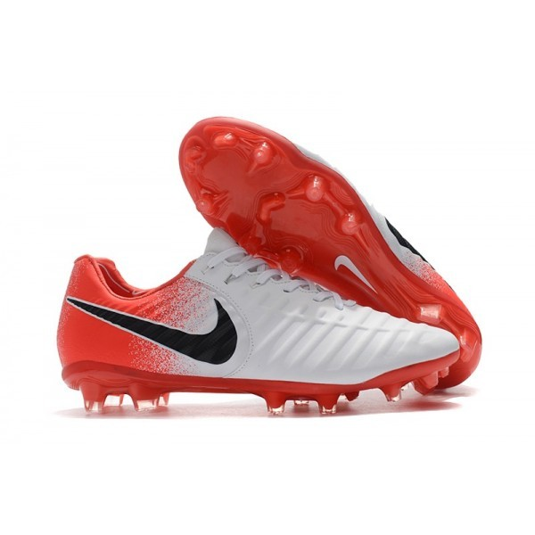 Men's Nike Football Cleats Tiempo Legend VII FG White Red Black