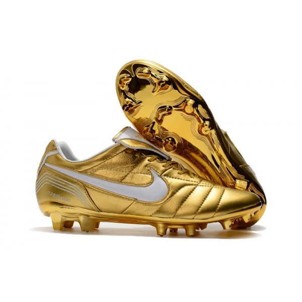Men's Nike Soccer Cleats Tiempo Legend 7 10R Elite FG Gold White
