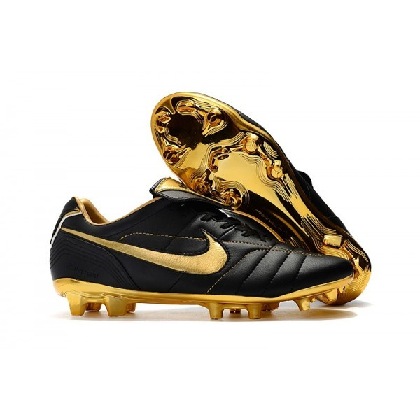 Men's Nike Tiempo Legend 7 10R Elite FG Black Metallic Gold