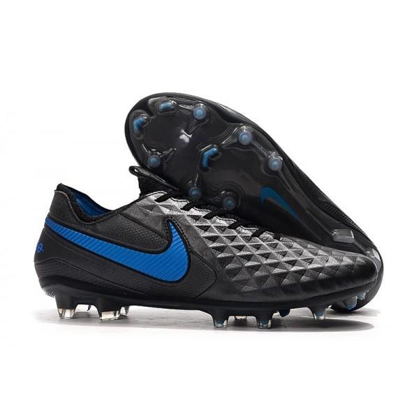 Men's Nike Soccer Boots Tiempo Legend 8 FG Black Blue