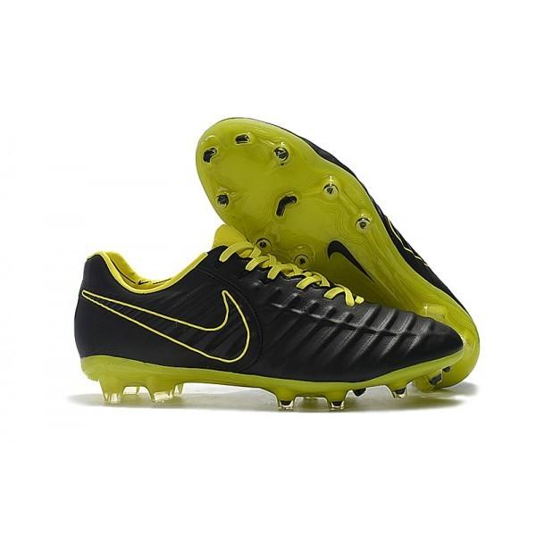 Men's Nike Soccer Shoes Tiempo Legend 7 FG Black Yellow