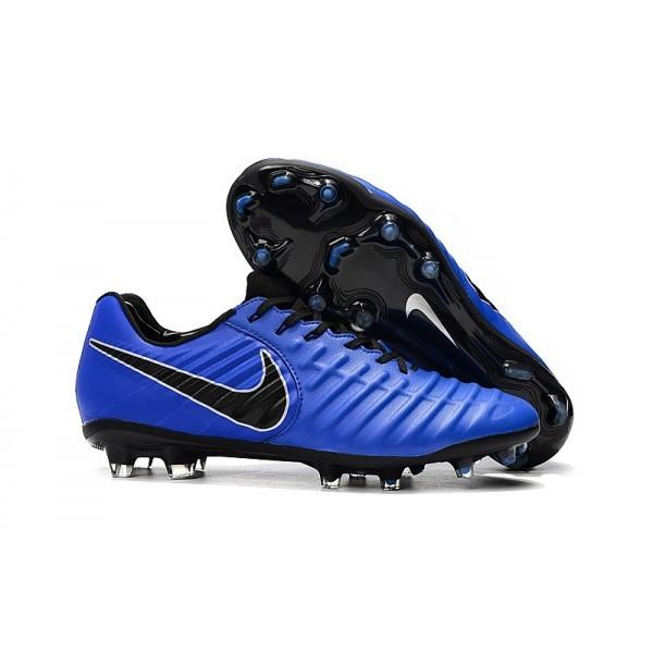 Men's Nike Tiempo Legend 7 FG Blue Black Soccer Shoes
