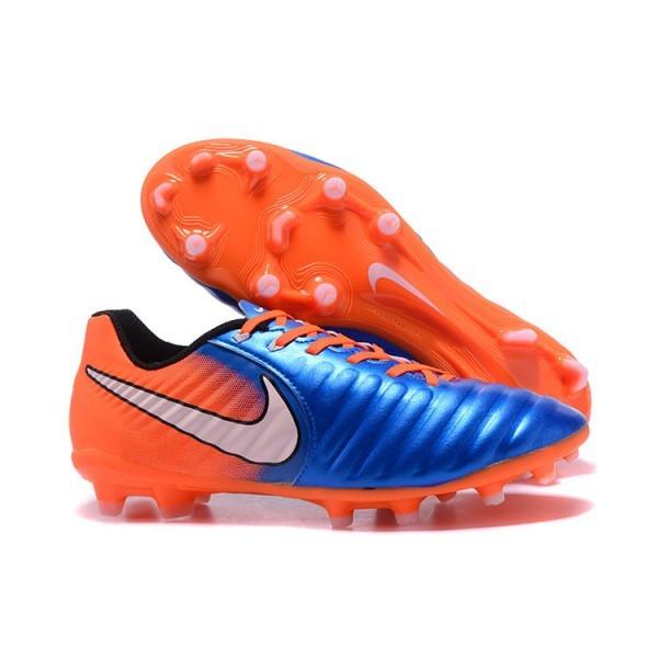 Men's Nike Soccer Shoes Tiempo Legend 7 FG Blue Orange
