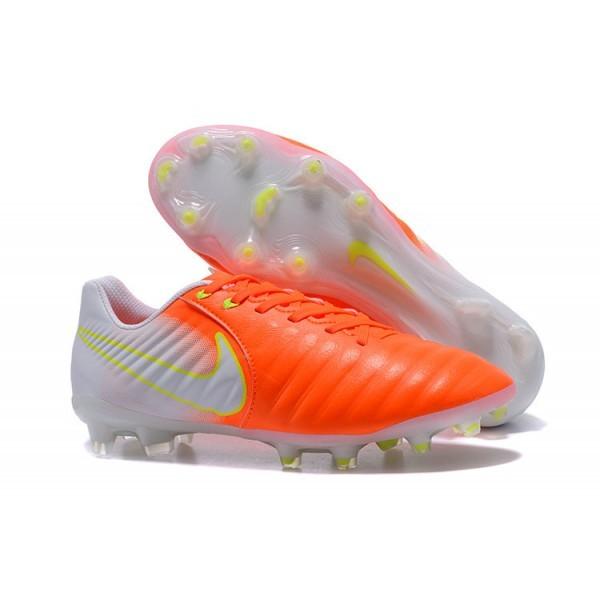Men's Nike Soccer Shoes Tiempo Legend 7 FG Orange White