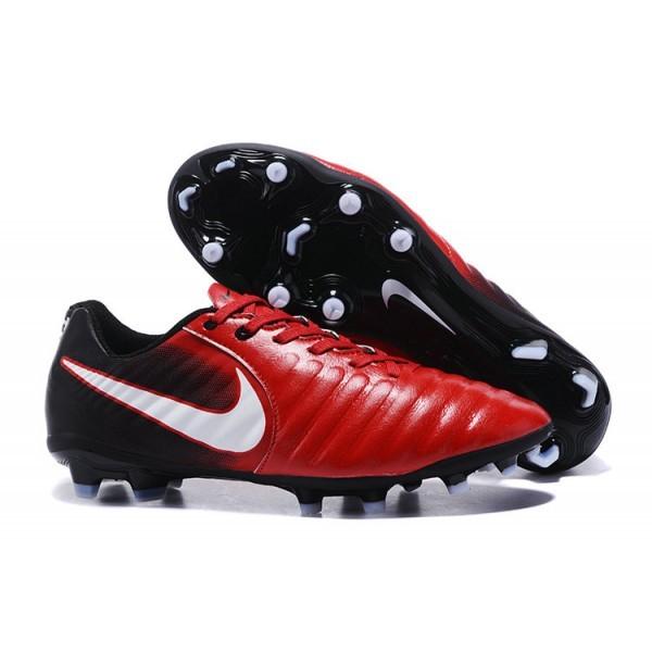 Men's Nike Soccer Shoes Tiempo Legend 7 FG Red Black White