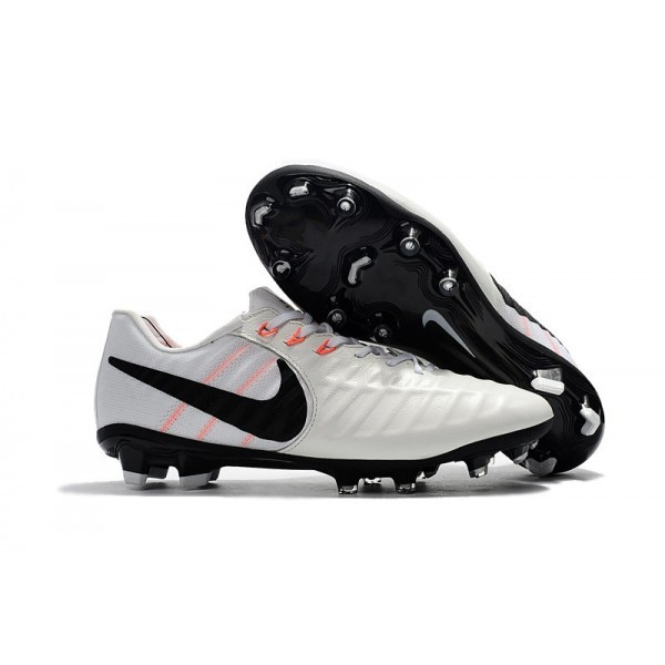 Men's Nike Soccer Shoes Tiempo Legend 7 FG White Black