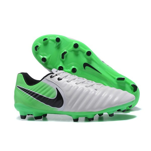 Men's Nike Soccer Shoes Tiempo Legend 7 FG White Green Black
