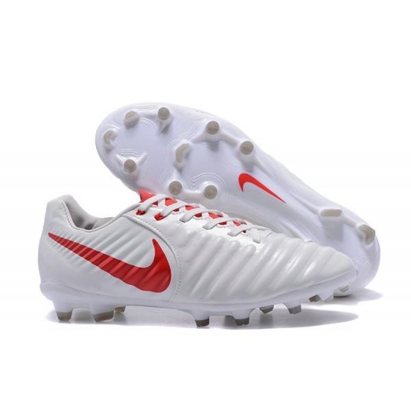 Men's Nike Soccer Shoes Tiempo Legend 7 FG White Red