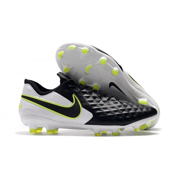 Men's Nike Soccer Boots Tiempo Legend 8 FG Black Volt White
