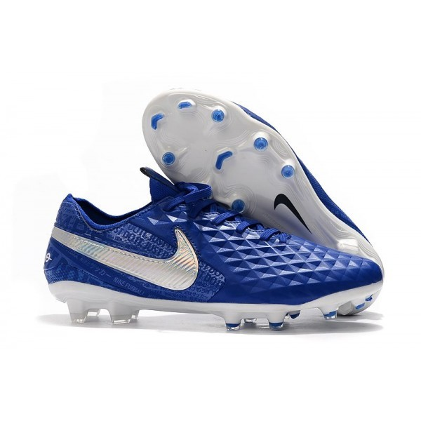 Men's Nike Soccer Boots Tiempo Legend 8 FG Hyper Royal White
