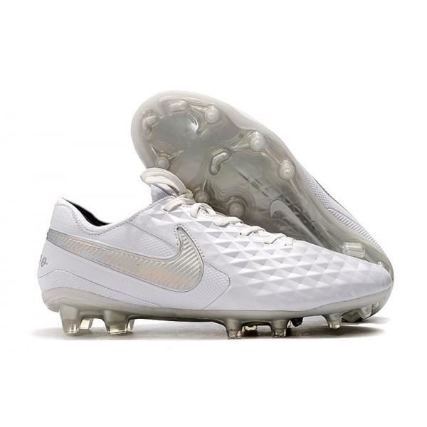 Men's Nike Soccer Boots Tiempo Legend 8 FG White Platinum Grey
